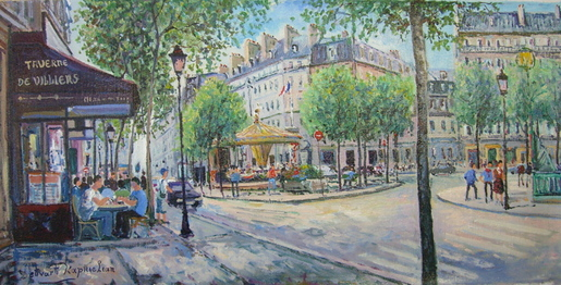 Paris Bistro Scene by Kaprielian